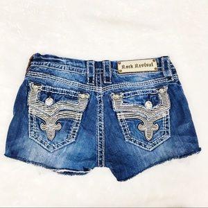 Rock Revival embellished cutoff denim shorts